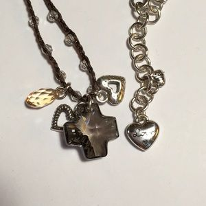 BRIGHTON Karma Cross Necklace. EUC